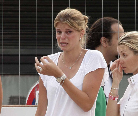 Las lágrimas de Athina Onassis en el Festival de Saltos de Montecarlo