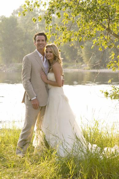 La boda de un alcalde con 'glamour' y la bella actriz Jennifer Siebel