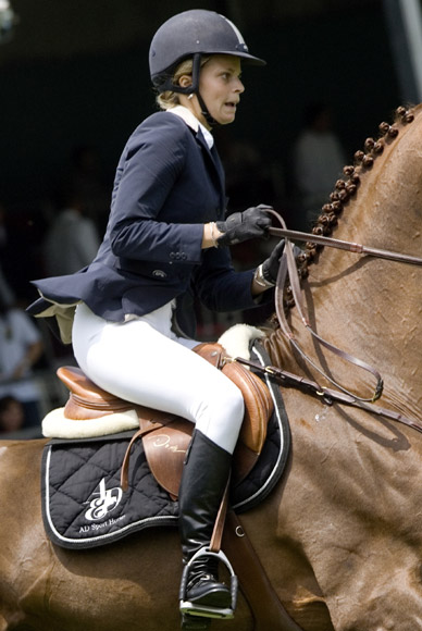 Athina Onassis participa por primera vez en el torneo ecuestre que lleva su nombre
