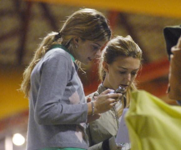 Athina Onassis y Marta Ortega, amigas y confidentes en un torneo hípico en Portugal