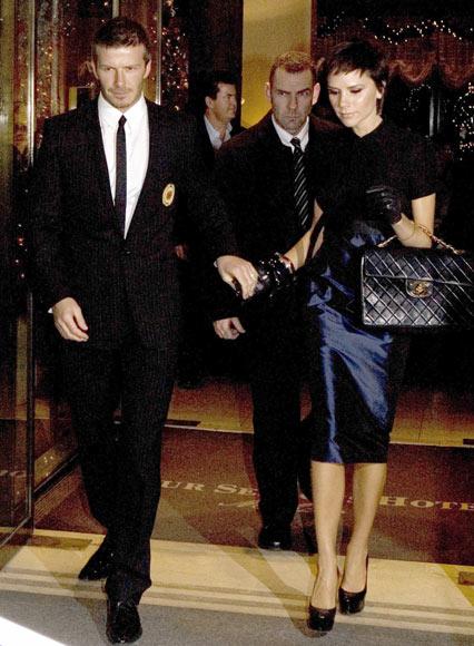 Los Beckham, felices en Italia