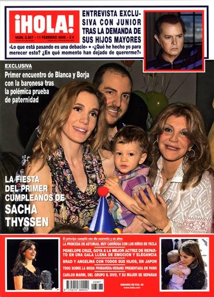 Exclusiva en la revista ¡HOLA!: La fiesta del primer cumpleaños de Sacha Thyssen