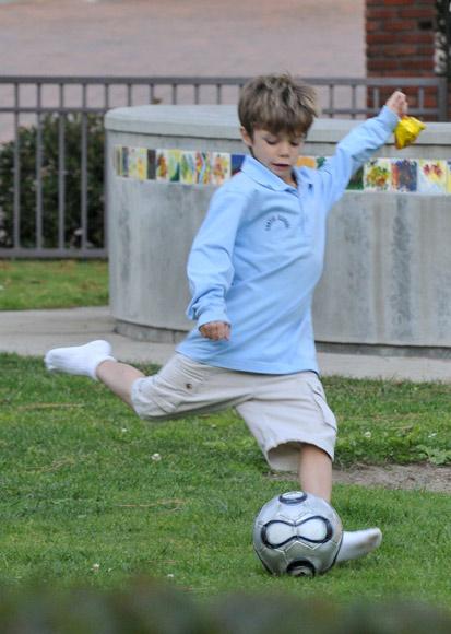 David Beckham y su hijo Romeo: como dos gotas de agua