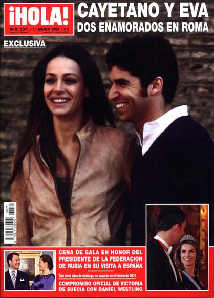 Cayetano y Eva, dos enamorados en Roma