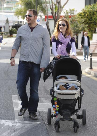 La Baronesa Thyssen coincide con su hijo Borja en Marbella pero hacen planes por separado