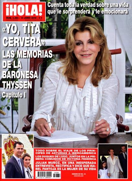 Esta semana en ¡Hola!: 'Yo, Tita Cervera', las memorias de la Baronesa Thyssen