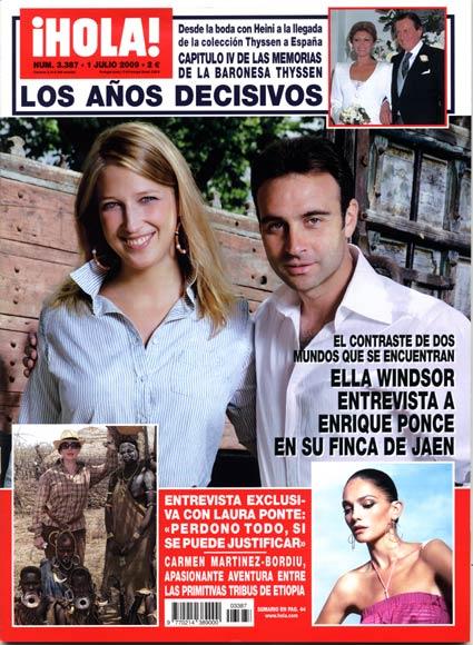 Esta semana en la revista ¡HOLA!: Ella Windsor entrevista a Enrique Ponce en su finca de Jaén