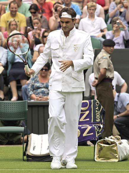 siempre popular diseño unico buena calidad Roger Federer, todo un dandi sobre la hierba de Wimbledon