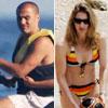 Fabio Cannavaro y Steffi Graf, dos deportistas de vacaciones en Italia con sus respectivas familias