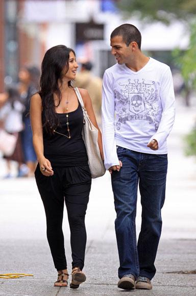 Cesc Fábregas y su novia, Carla, dos enamorados por las calles de Nueva York