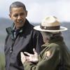 Los Obama al completo visitan el bosque del Oso Yogui