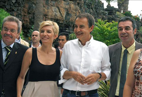 José Luis Rodríguez Zapatero y Sonsoles Espinosa visitan los Jameos del Agua durante sus vacaciones en Lanzarote