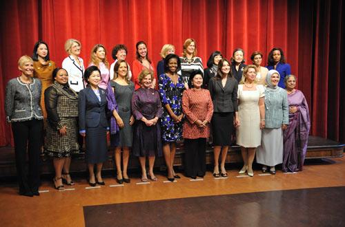 Michelle Obama despide a las Primeras Damas de la Cumbre del G-20