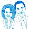 Los retratos de famosos en la página web oficial de Carla Bruni causan un gran revuelo