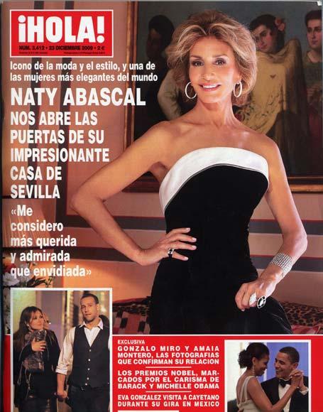 En ¡HOLA!: Naty Abascal nos abre las puertas de su impresionante casa de Sevilla
