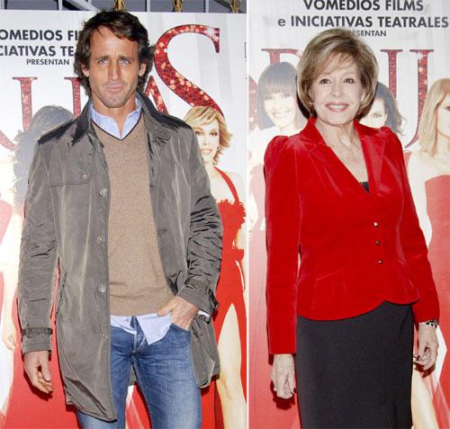 Álvaro Muñoz Escassi y Laura Valenzuela arropan a Lara Dibildos en el estreno de 'Brujas'