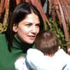 Lorena Bernal y Mikel Arteta, paseo familiar en Liverpool con su hijo, Gabriel