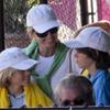 Los hijos de Julio Iglesias, Boris Becker y Tiger Woods, admiradores del juego de Rafa Nadal