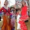 Eva González, Marisa Jara, Natalia Álvarez... estampados y volantes colorean la Feria de abril