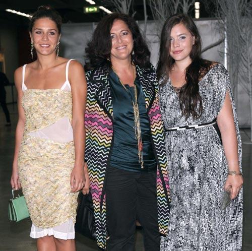 Ángela Missoni con sus hijas, Margherita y Teresa