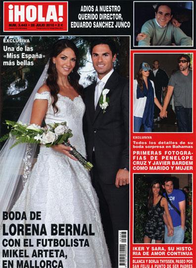 Exclusiva en la revista ¡HOLA!: Boda de Lorena Bernal con el futbolista Mikel Arteta, en Mallorca
