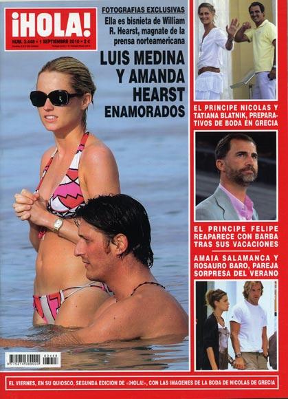 Fotografías exclusivas en ¡HOLA!: Luis Medina y Amanda Hearst, enamorados