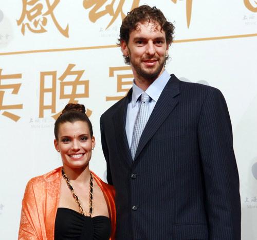 Pau Gasol y Silvia López, una pareja solidaria en Pekín