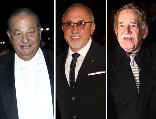 Carlos Slim, Emilio Estefan y Gabriel García Márquez