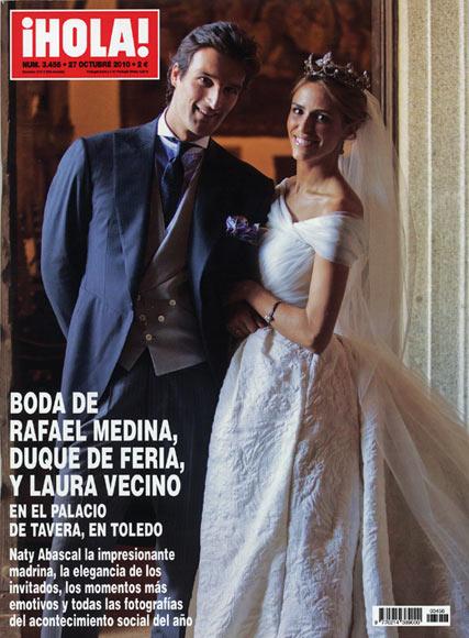 En ¡HOLA!: Boda de Rafael Medina, Duque de Feria, y Laura Vecino en el Palacio de Tavera, en Toledo