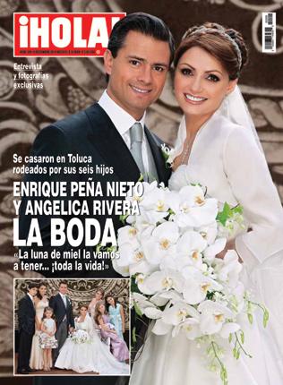 ¡HOLA! México adelanta su salida. Entrevistas y fotografías exclusivas. Enrique Peña Nieto y Angélica Rivera, la boda