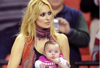 Carla Moyá, espectadora de lujo en el último partido profesional de su papá