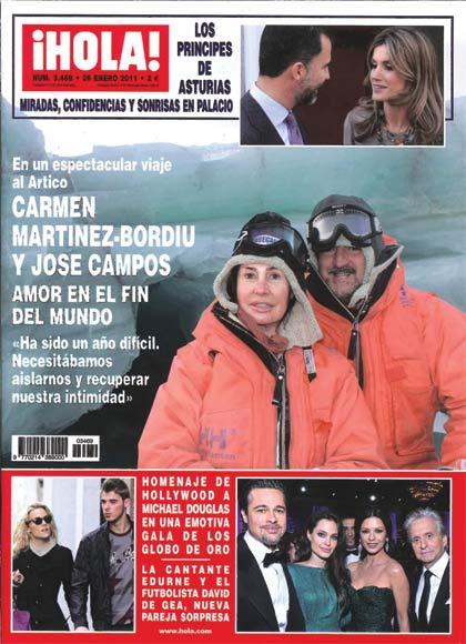 Esta semana en ¡HOLA!: Carmen Martínez-Bordiu y José Campos, amor en el fin del mundo