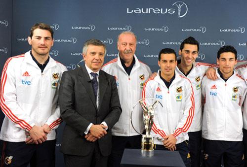 Los miembros de 'la Roja' agradecieron el galardón en una conexión en directo con Abu Dhabi desde Madrid