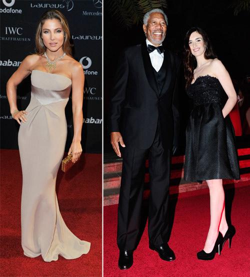 El acento español también estuvo marcado por las actrices españolas Elsa Pataky y Paz Vega, que se reencontró con su amigo Morgan Freeman