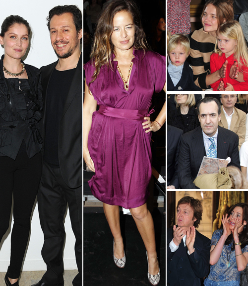 Laetitia Casta, Jade Jagger, Natalia Vodianova, Paul McCartney, Jaime de Marichalar... cita con la moda en París