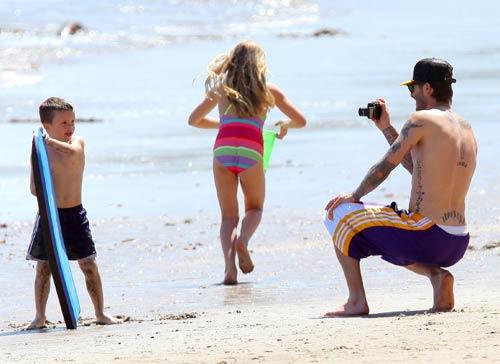 David Beckham se lo pasa en grande con sus hijos
