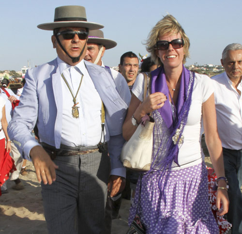 Miguel Báez 'El Litri' y Carolina Herrera, Francisco Rivera y Simoneta Gómez-Acebo, peregrinos en el Rocío