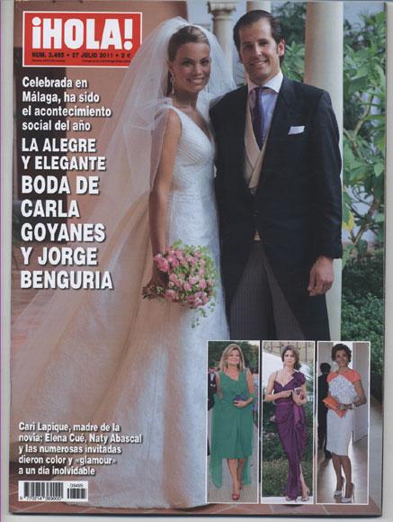Esta semana en ¡Hola!: La alegre y elegante boda de Carla Goyanes y Jorge Benguría en Málaga