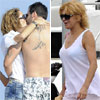 La baronesa Thyssen y su hijo Borja y Blanca Cuesta, cada uno por su lado en Ibiza