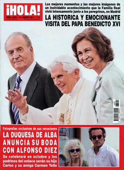 En ¡HOLA!: La histórica y emocionante visita del Papa Benedicto XVI