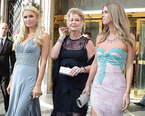 Paris, Kathy y Nicky Hilton en la boda de Petra Ecclestone