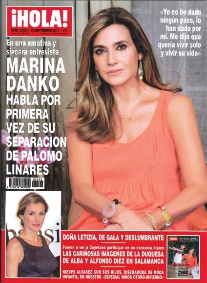 Esta semana en la revista ¡HOLA!: Marina Danko, en una emotiva y sincera entrevista, habla por primera vez de su separación de Palomo Linares