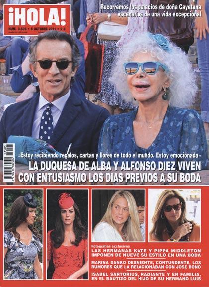 Esta semana en ¡HOLA!: La duquesa de Alba y Alfonso Díez viven con entusiasmo los días previos a su boda