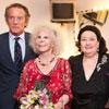 La duquesa de Alba asiste con Alfonso y Eugenia al concierto solidario de Montserrat Caballé y su hija en Sevilla