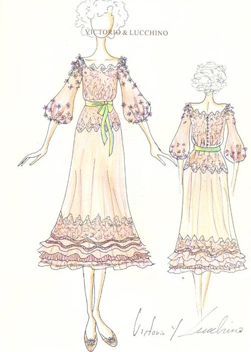 Rosa y con aires flamencos: Así es el vestido de novia de la duquesa de Alba
