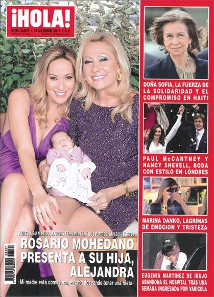 Esta semana en ¡HOLA!: Rosario Mohedano presenta a su hija Alejandra