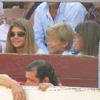 Juan Antonio Ruiz 'Espartaco' torea bajo la mirada de tres espectadores de lujo, sus tres hijos