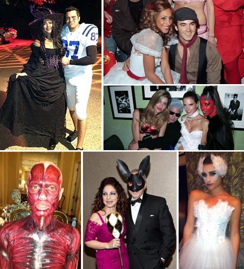 los famosos en la noche de halloween