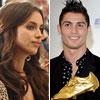 Cristiano Ronaldo recibe en Madrid su segunda Bota de Oro acompañado por su familia y su novia, Irina Shayk