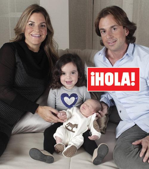 En ¡HOLA!: Arantxa Sánchez Vicario y su marido, Josep Santacana, nos presentan a Leo, su segundo hijo